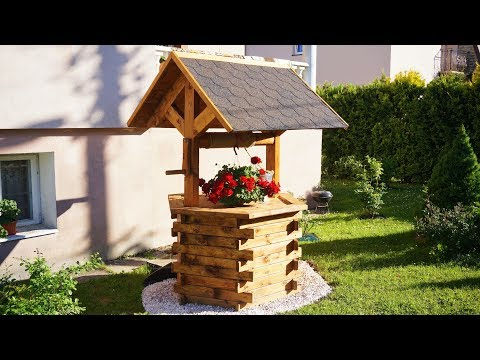 Making Wooden Well for garden