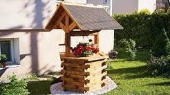 Making Wooden Well for garden [PLANS]
