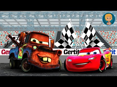 Car Race Fast as Lightning McQueen! Gertit Wins a Challenge While Racing with Cars