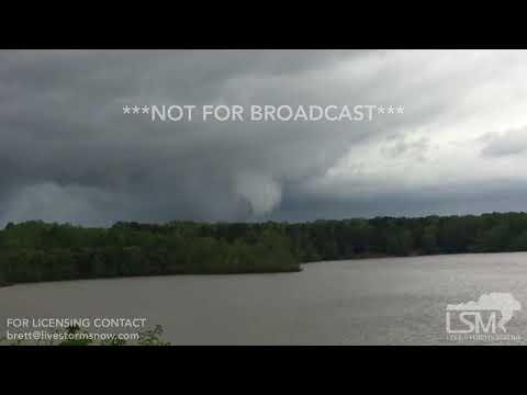 4-19-19 South Boston, VA - Tornado Warned Supercells and Funnel Clouds