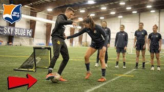 CAN I NUTMEG A PROFESSIONAL WOMENS SOCCER TEAM !? (CRAZY REACTIONS)
