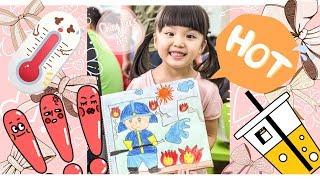 兒童畫 | 木顏色|課堂習作 | 蠟筆 | 消防員 (Ching Lee's Art)