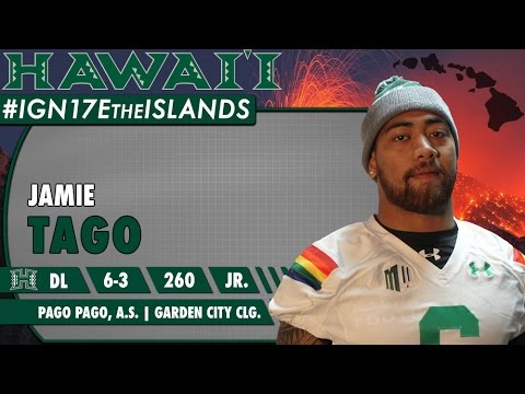 University of Hawaii Football Mid-Year Signee Jamie Tago