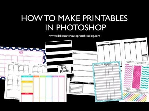 How To Make Planner Printables In Photoshop Step By Step Tutorials