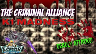 Criminal Alliance Madness In Kingdom 1 - Lords Mobile
