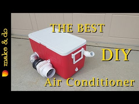 12 Volt Air Conditioner For Car >> Homemade Portable Air Conditioner DIY - Version 2 - Runs ...