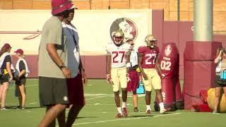 Day 13: Practice footage Florida State Seminoles FSU football