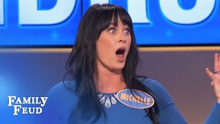 GOTTA HEAR THIS! Michelle has a problem... with BALLS | Family Feud