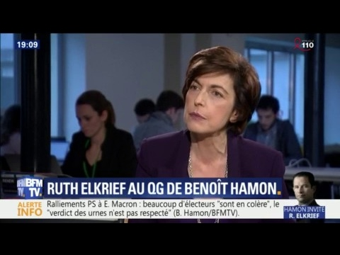 """Benoît Hamon estime que """"Marine Le Pen est soumise au Kremlin"""""""