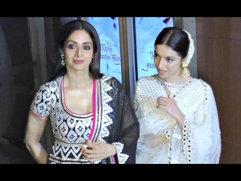 Sridevi Hot Body At 53 Years Age At Divya Khosla Kumar New Song 'Kabhi Yaadon Mein' Celebration