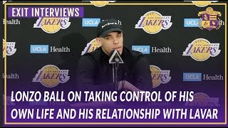 Lakers Exit Interviews: Lonzo On Taking Control of His Life & His Business Relationship w/ Lavar