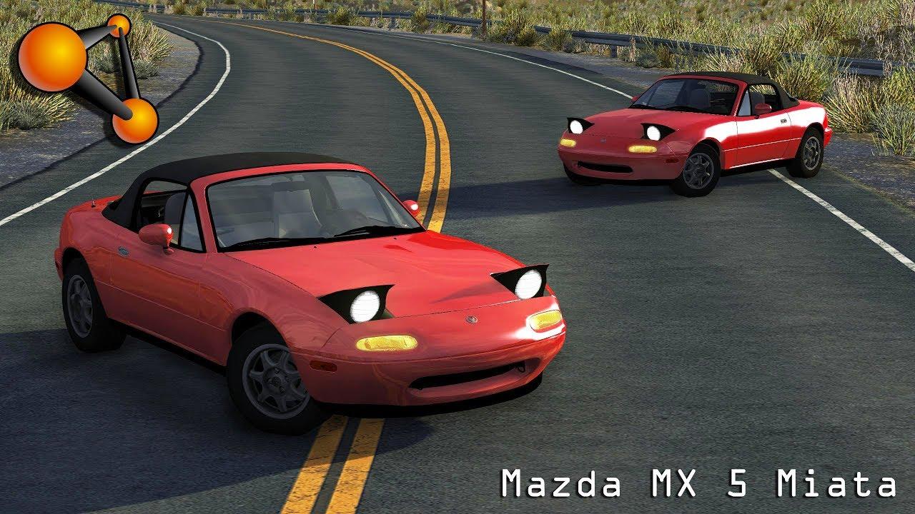 Beamng Drive Mod Mazda Mx 5 Miata 1996 Crash Testing Hd