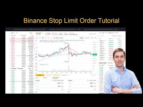 Binance Stop Limit Order Tutorial ✅