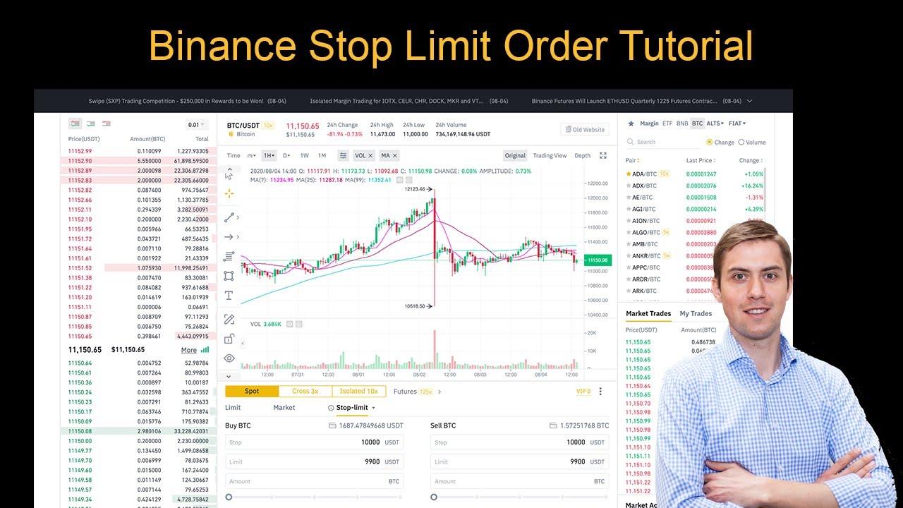 binance stop limit sell