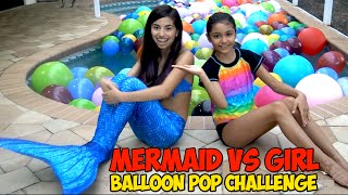 Fin Fun Mermaid Vs Girl Balloon Pop CHALLENGE | Back 2 School Giveaway Winner