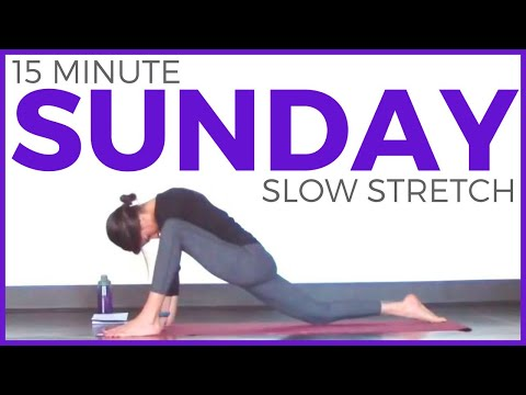 Sunday - Slow Stretch Restorative Yoga Routine | 7 Day Yoga Challenge