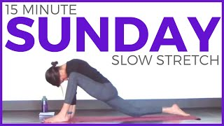 Sunday - Slow Stretch Restorative Yoga Routine | #7DayYogaChallenge