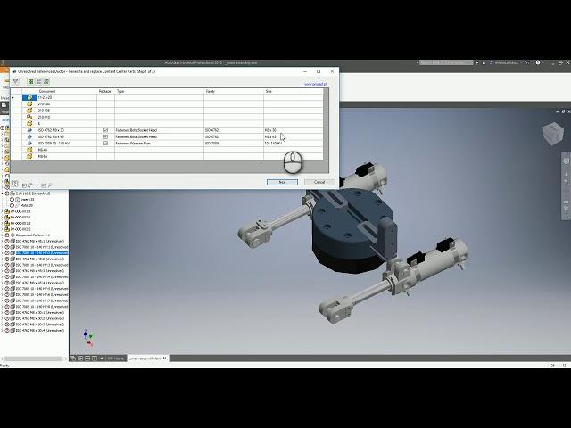 PROCAD Unresolved References Doctor PL dodatek do Autodesk Inventor