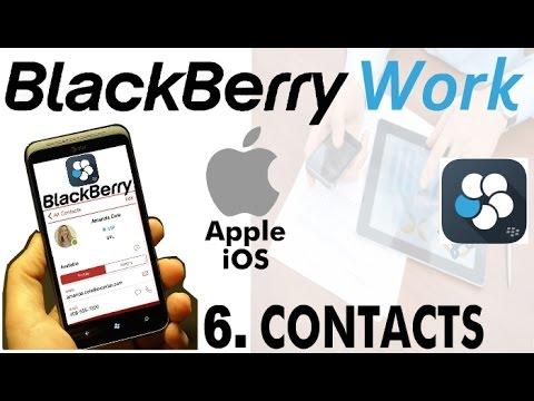 rubrica blackberry su iphone