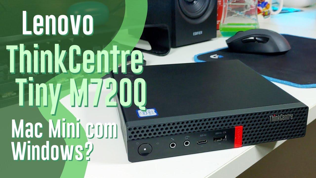 """Um """"Mac Mini"""" pra quem curte Windows. Lenovo ThinkCentre Tiny M720Q (Review)"""