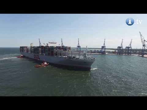 Największy kontenerowiec świata - OOCL Hong Kong - w DCT