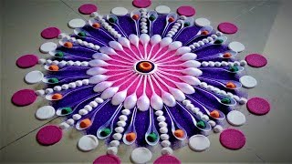 Innovative and Beautiful Rangoli Designs Using Spoons|Creative Rangoli by Shital Mahajan.