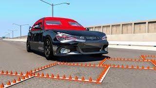 Massive Spike Strip Pileup Crashes #5 – BeamNG Drive | CrashBoomPunk