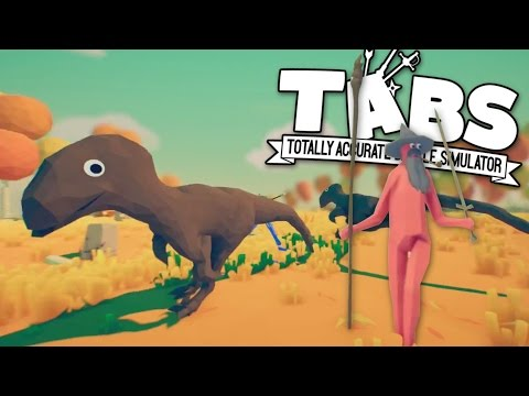 TABS - Raptors and Gandalf the Wizard! - Totally Accurate Battle Simulator
