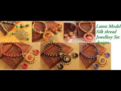 New Model Silk thread jewellery Set |Silk thread jewellery||Necklace,Earrings,Bangles Designs.