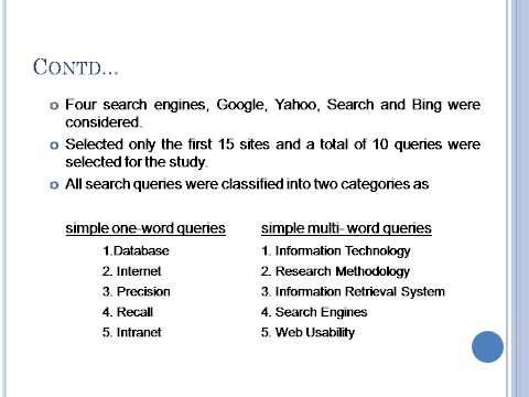 Performance of Meta Search Engines || Google || Yahoo