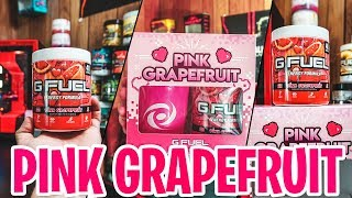 NEW G-Fuel PINK GRAPEFRUIT First Look AND Taste Test! W/GIRLFRIEND - & NEW G-FUEL 2GO SCOOPER