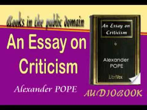 An introduction to popes an essay on criticism