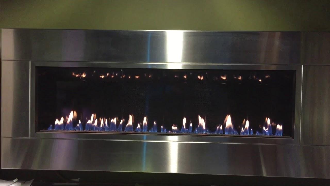 CHIMENEAS DE GAS EMPOTRABLES TIPO CUADRO LINEAL DE PARED - YouTube