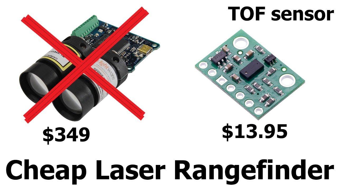 Cheap laser rangefinder time of flight distance sensor