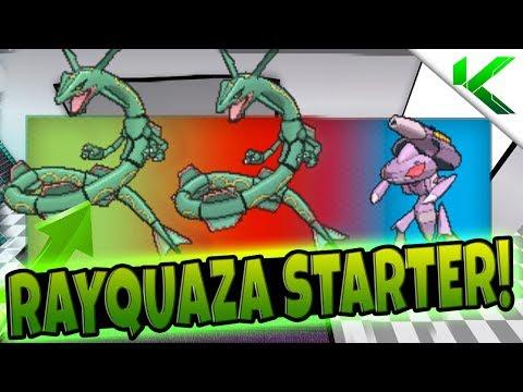 RAYQUAZA AS THE STARTER!! - Pokemon Brick Bronze Randomizer