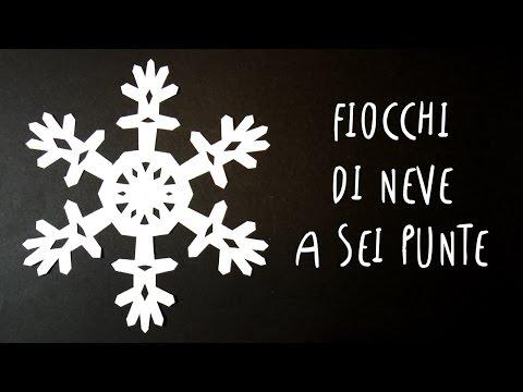 Stella Di Natale A 6 Punte.Fiocchi Di Neve Di Carta A Sei Punte Facili E Bellissimi By Art Tv