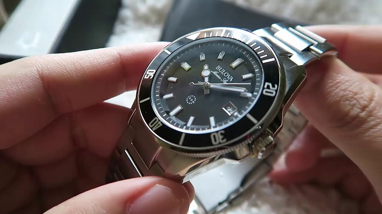 659d34cf5 Bulova Marine Star 98B203 Review - April 2016 Giveaway - YouTube