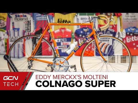 Eddy Merckx's Colnago Super - Moltenti Team Edition Race Bike | GCN Tech Retro Pro Bike