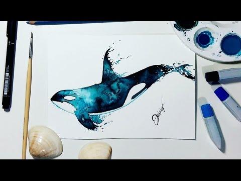 Speed Drawing - Whale 【Watercolor Speedpaint】