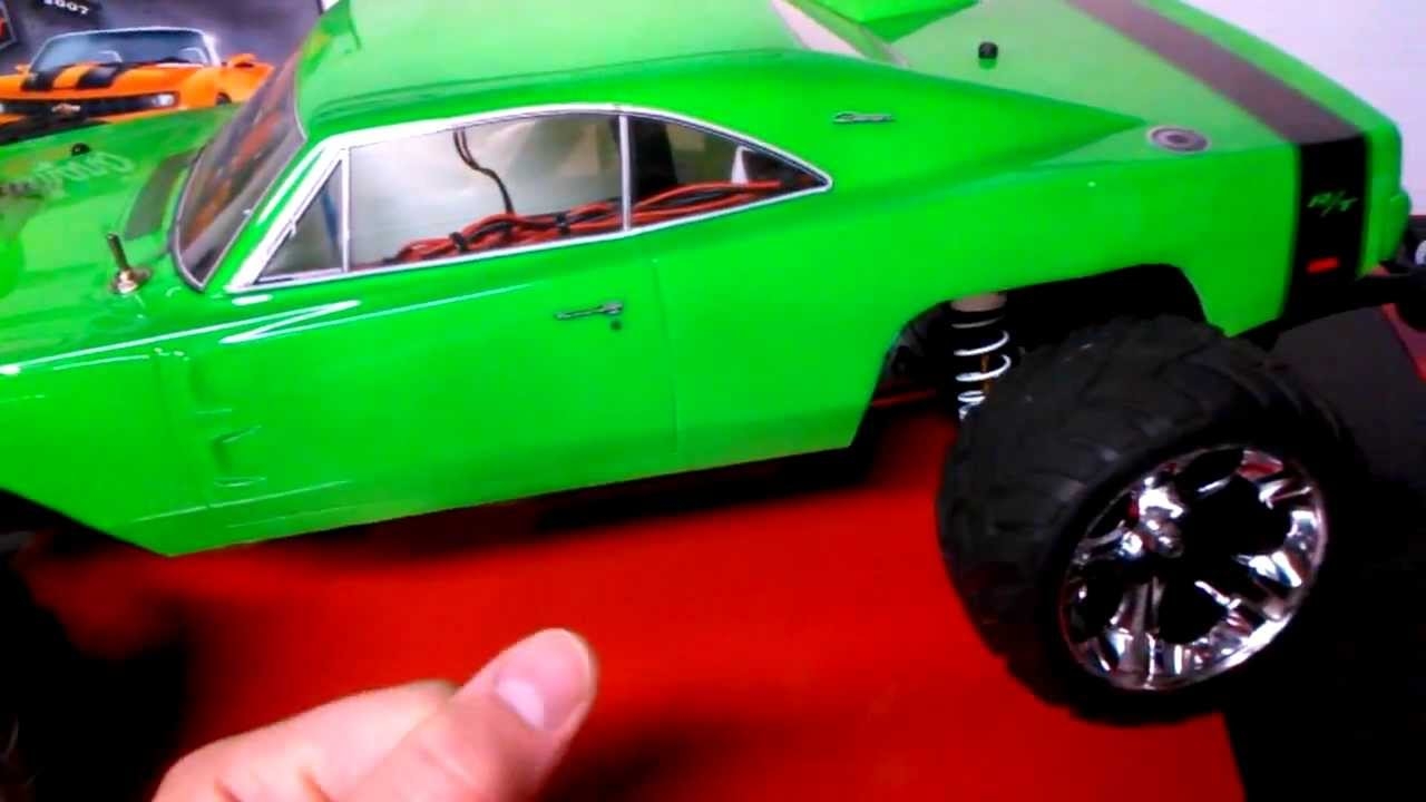 Traxxas Rustler Vxl RC 2wd Lipo Charger Body Led Stampede