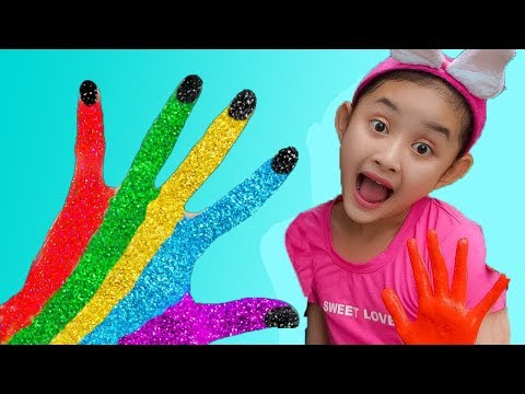 Learn Colors for Children! Mina Body Paint Finger Family Songs Nursery Rhymes | Mina ToysReview Mp3