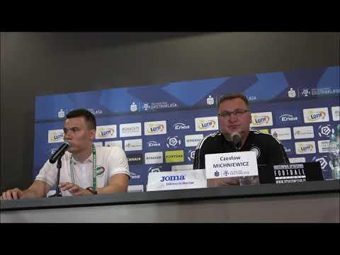 Trenerzy Michniewicz i Banasik po meczu Radomiaka z Legią