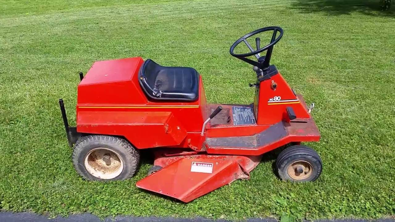 Vintage Case Model Xc80 80xc Rear Engine Riding Mower