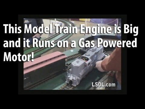 Model Trains: R/C Gas Powered : Wada Works Diesel-Electric Brass GP9 (Gas Powered) G Scale