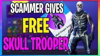 SCAMMER Gives Me FREE SKULL TROOPER After I Get Banned! (Fortnite Battle Royale Scammer) EP.1