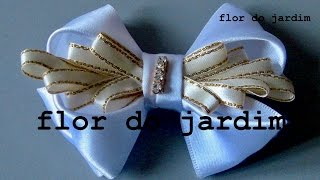 Laço Luxuoso DIY- TUTORIAL – Ribbon for hair