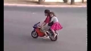 أطفال على دراجة ناريه هههههههه RUDI CH