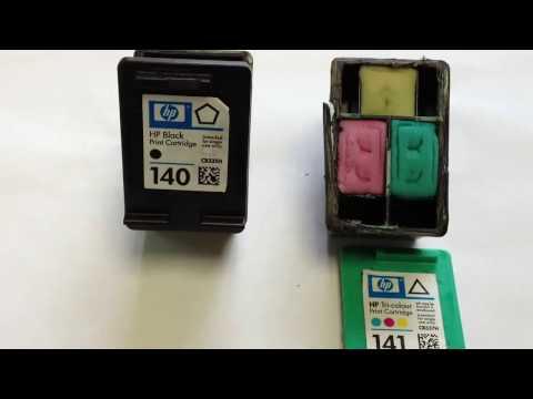 Разборка катриджа принтера HP 140
