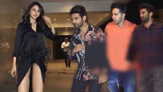 Rakul Preet Singh ABASHlNG Moments in front Of Varun Dhawan, Kartik Aryan and Others | J.B Party