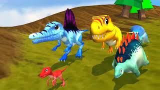 Cute dinosaur Racing for Kids, Toddlers  Para channel